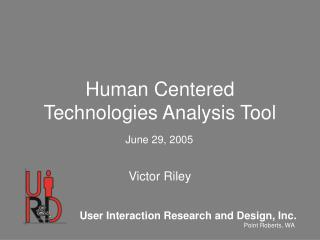 Human Centered Technologies Analysis Tool