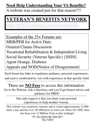 Need Help Understanding Your VA Benefits? A website was created just for that reason!!!!