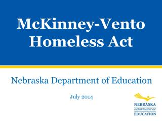 McKinney-Vento Homeless Act