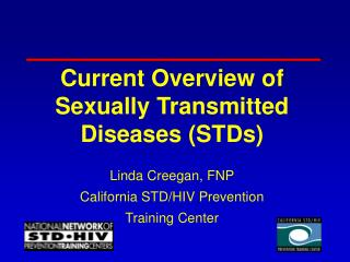 Current Overview of Sexually Transmitted Diseases (STDs)