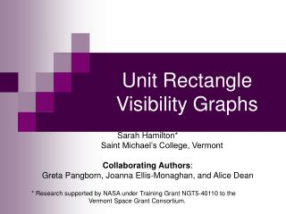 Unit Rectangle Visibility Graphs
