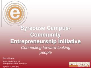Syracuse Campus-Community Entrepreneurship Initiative