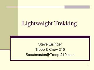 Lightweight Trekking
