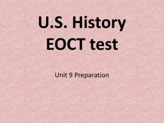 U.S. History  EOCT test