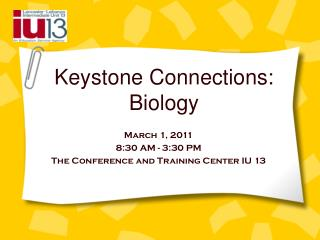 Keystone Connections: Biology