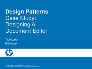 Design Patterns Case Study: Designing A Document Editor