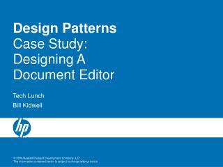 Design Patterns Case Study: Designing A Document Editor