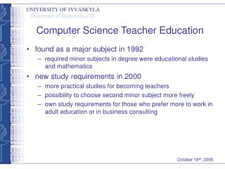 Computer Science Teacher Education
