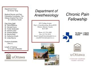 Chronic Pain Fellowship