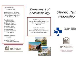 Chronic Pain Fellowship