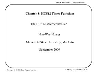 Chapter 8: HCS12 Timer Functions