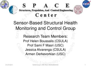 Sensor-Based Structural Health Monitoring and Control Group
