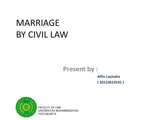 MARRIAGE  BY CIVIL LAW