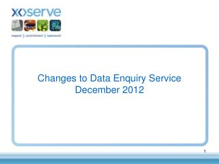 Changes to Data Enquiry Service December 2012