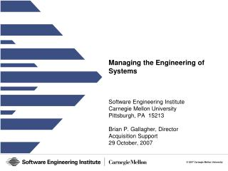 Managing the Engineering of Systems
