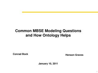 Common MBSE Modeling Questions and How Ontology Helps