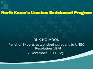 North Korea's Uranium Enrichment Program