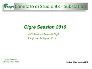 Comitato  di Studio B3 -  Substation