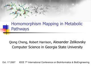 Homomorphism Mapping in Metabolic Pathways