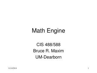 Math Engine