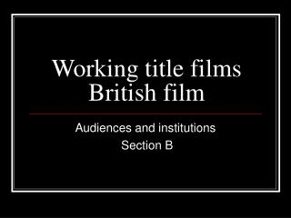 Working title films British film