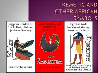 Kemetic and other African Symbols