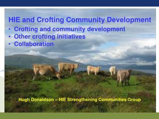 Hugh Donaldson – HIE Strengthening Communities Group