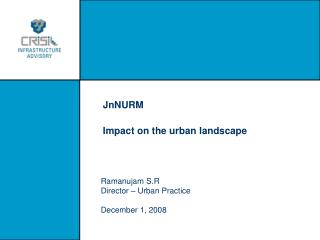 JnNURM  Impact on the urban landscape
