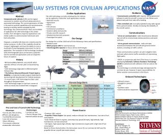 UAV SYSTEMS FOR CIVILIAN APPLICATIONS