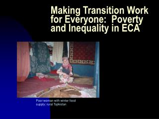 Making Transition Work for Everyone:  Poverty and Inequality in ECA