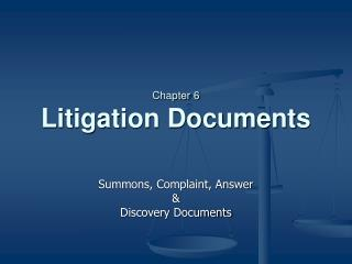 Chapter 6 Litigation Documents