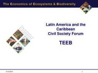 Latin America and the Caribbean Civil Society Forum  TEEB