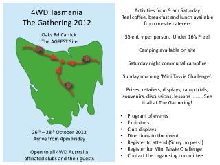 4WD Tasmania The Gathering 2012
