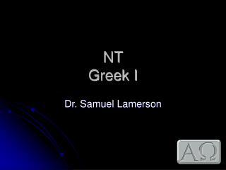 NT  Greek I