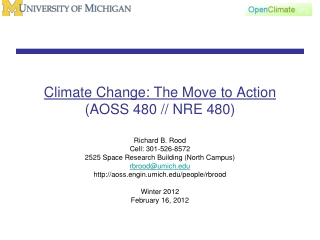 The National Climate Change Response Policy   Summary Introduction