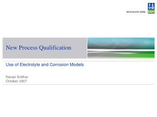 New Process Qualification