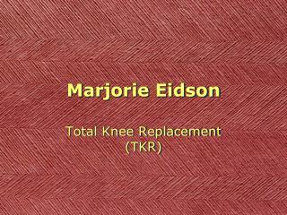 Marjorie Eidson