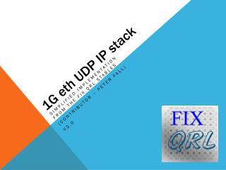 1G eth UDP IP stack