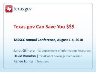 Texas Can Save You $$$