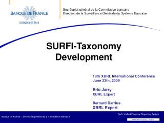 SURFI-Taxonomy Development