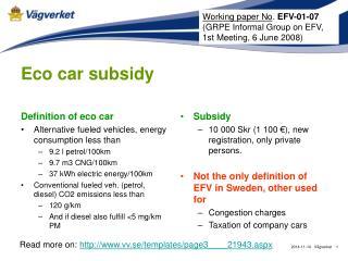 Eco car subsidy