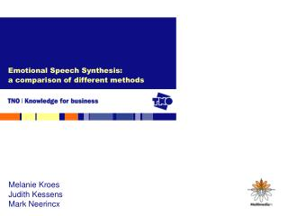 Emotional Speech Synthesis:  a comparison of different methods