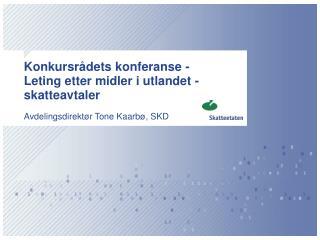 Konkursrådets konferanse -  Leting etter midler i utlandet - skatteavtaler