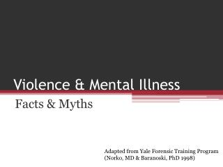 Violence & Mental Illness
