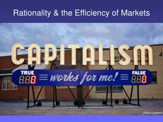 Rationality & the Efficiency of Markets