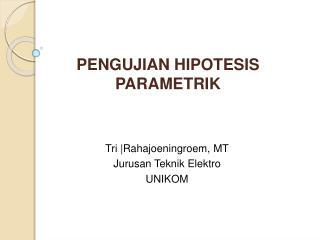 PENGUJIAN HIPOTESIS PARAMETRIK