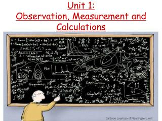 Unit 1: Observation, Measurement and Calculations