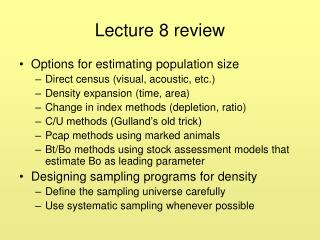 Lecture 8 review