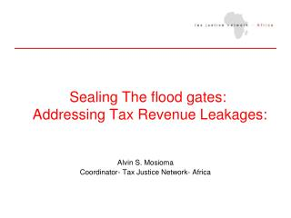 Sealing The flood gates:  Addressing Tax Revenue Leakages: