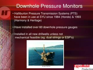 Downhole Pressure Monitors